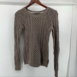 H&M Brown Cable Sweater